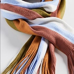 MADEWELL Scarf - Striped with Fringe Scarf; NWT